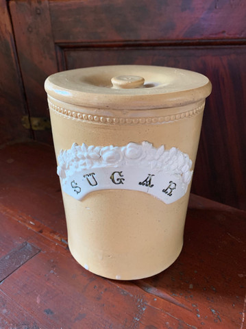 Yellow Ware Sugar Canister