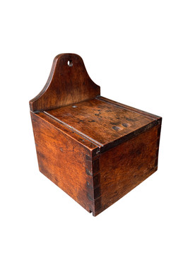 19thC Hanging Salt Box