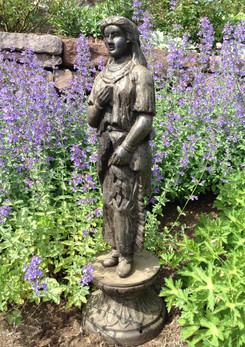 19thC Cast Iron Indian Maiden
