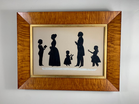 Edouart Silhouette of an American Family