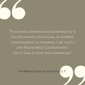 Sor María Lourdes de los Santos O.P.