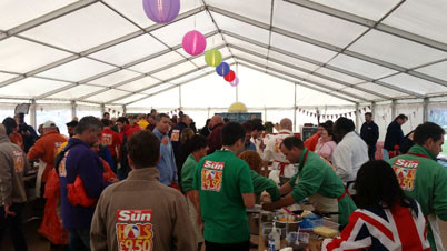 Team building in the bake off tent