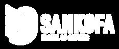 Sankofa Logo - Horizontal White- RASTER