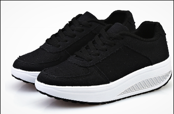 Black Mesh Toning Trainers