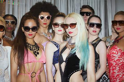 BACKSTAGE WITH MODELS