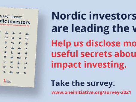 Impact Report Nordic Investors 2021 - delta i undersökningen!