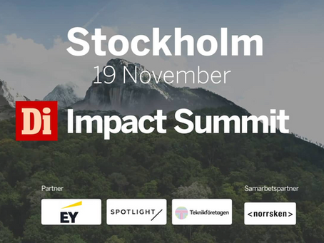 Recording: Impact Summit Stockholm - November 19 (In Swedish)