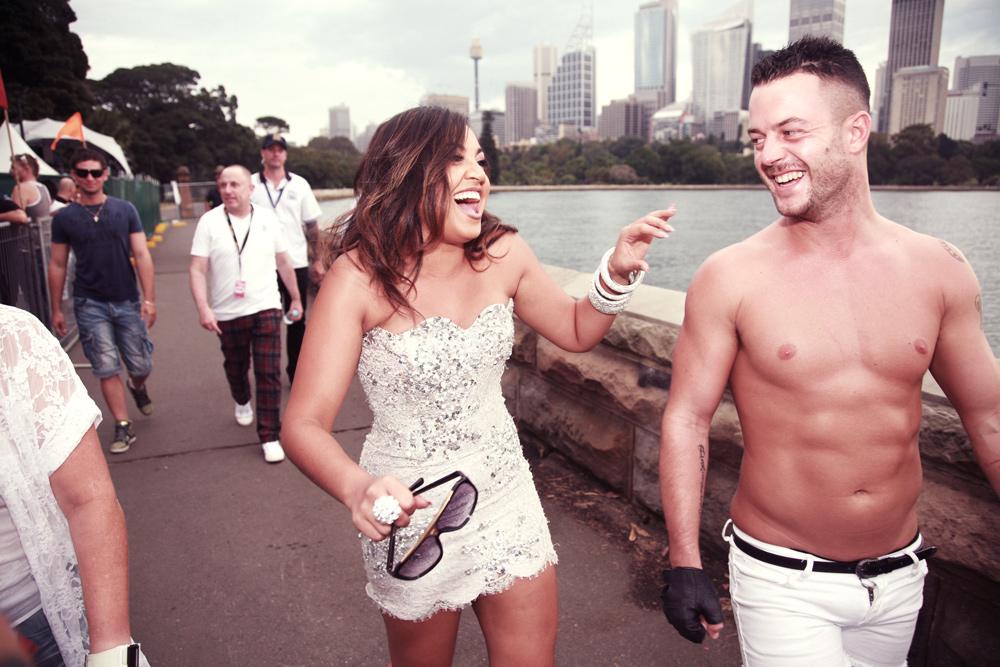Jessica and Wil on Sydney Harobour