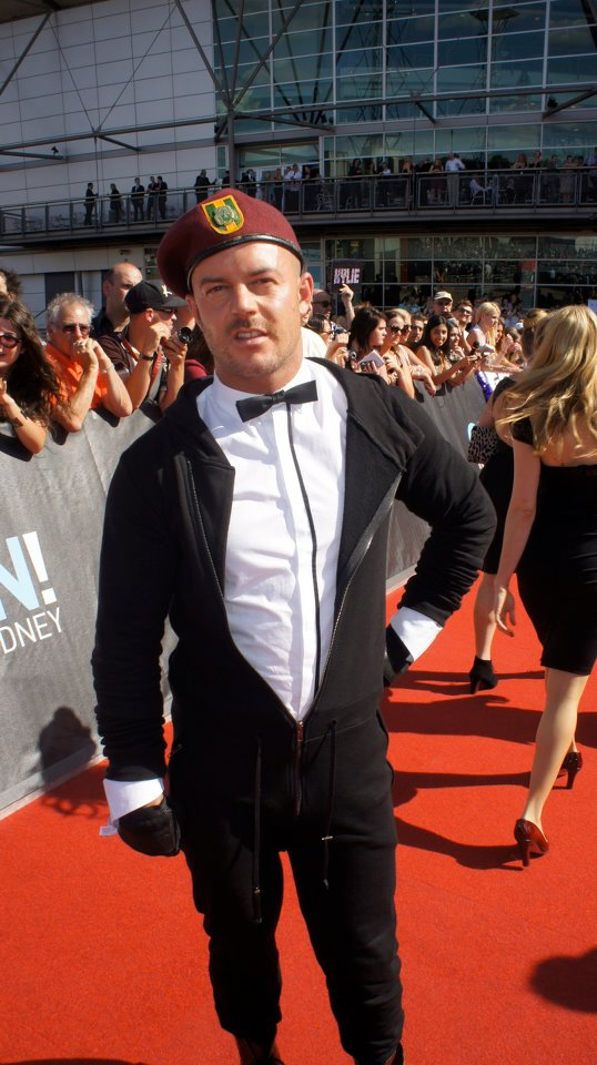 Wil on the ARIA Red Carpet