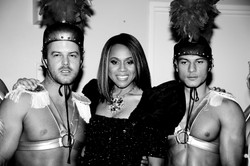 Wil, Deborah and Daniel Backstage