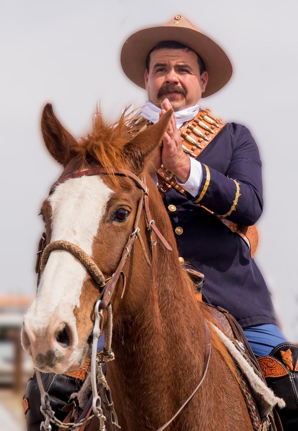 Mexican soldier re-enactor