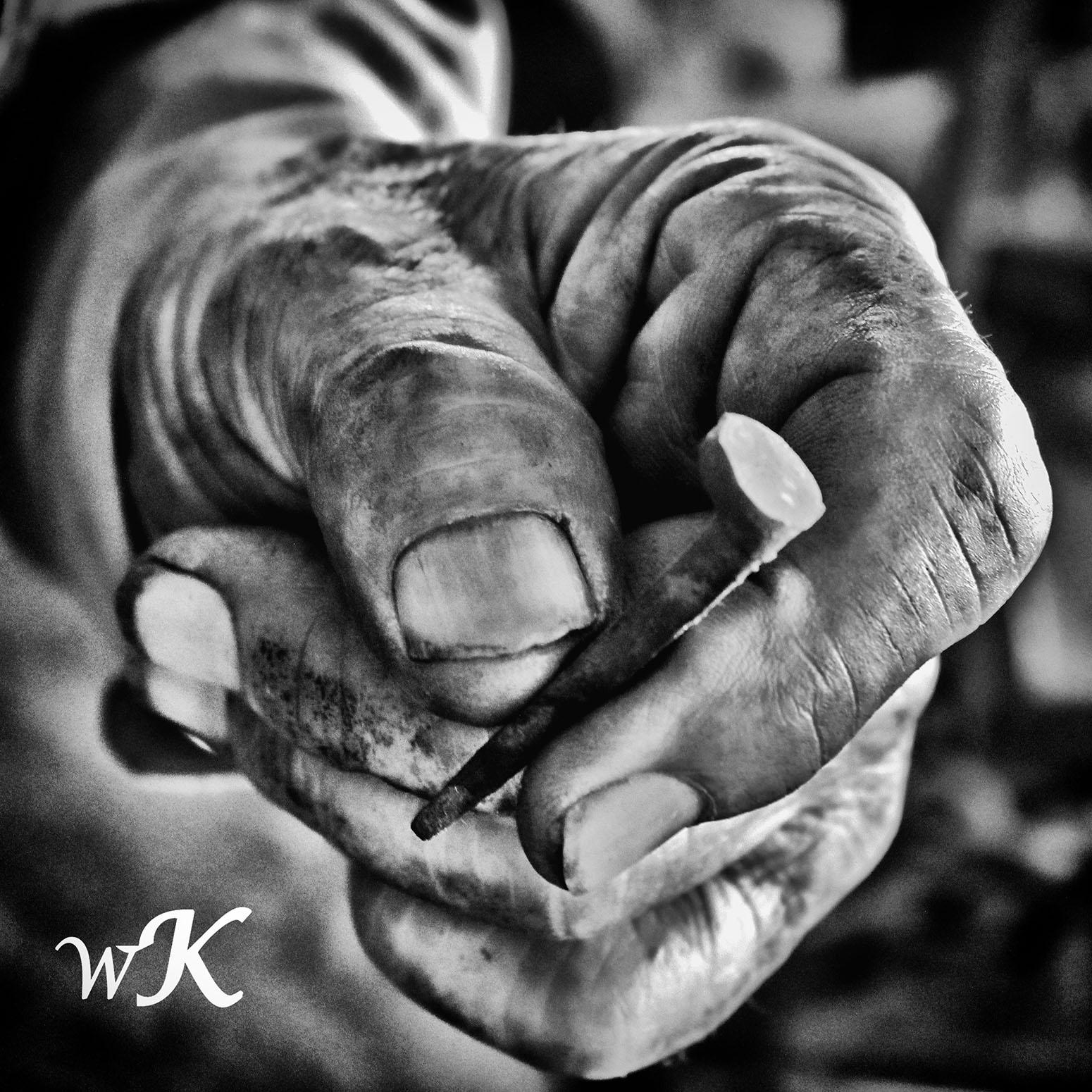 Smithy's hand