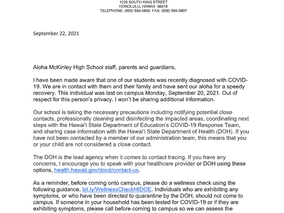 COVID Notification Letter