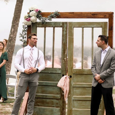 Antique doors for the entrance of the bride in Fort Walton Beach