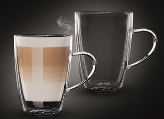 """סט 2 כוסות דאבל 350 מ""""ל LATTE JAMAICA מבית Food Appeal"""
