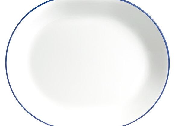 """מגש אובלי 31 ס""""מ פס כחול מבית קורנינג קורל"""