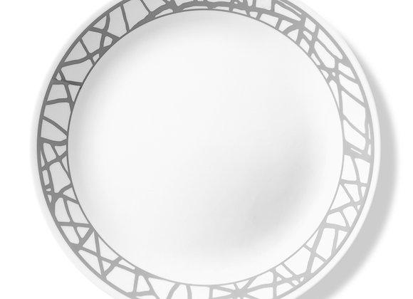 סט 6 צלחות מנה עיקרית דגם 064 Marble Lines, קורל