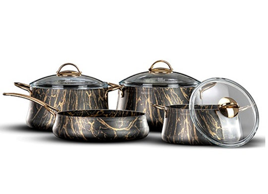 סט 7 חלקים Royal Swan זהב מבית Food Appeal