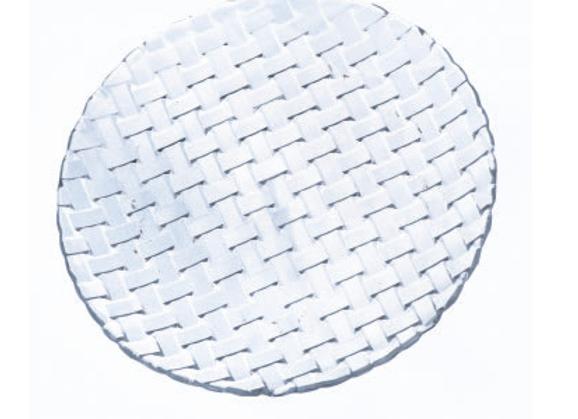 """סט 6 צלחות זכוכית אותנטי ריבועים 25 ס""""מ"""