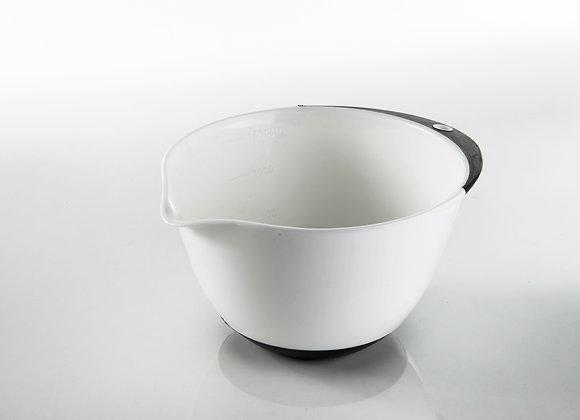 מיקי שמו - קערת ערבוב לבנה 1.5 ליטר בסיס גומי  מבית ARCOSTEEL