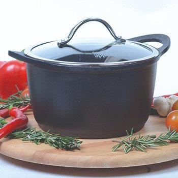 """סיר 28 ס""""מ 7.8 ליטר BLACK MARBLE מבית FOOD APPEAL"""