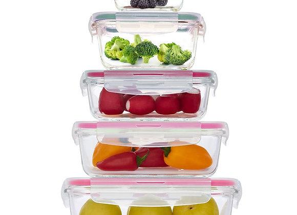סט 5 כלי אחסון סגול GLASS CLOC מבית Food Appeal