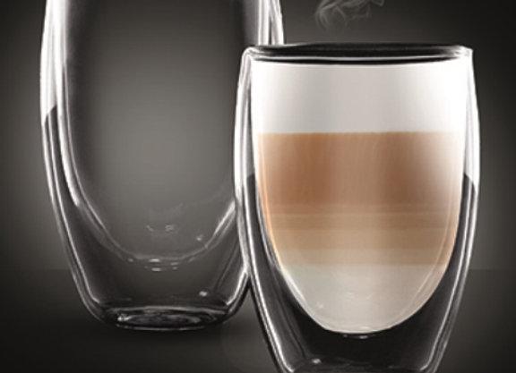 """סט 2 כוסות דאבל 350 מ""""ל LATTE COLOMBIA מבית Food Appeal"""