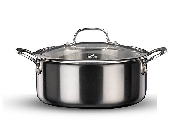 """סיר 24 ס""""מ, 4.5 ליטר מסדרת HYBRID PAN מבית Food Appeal"""