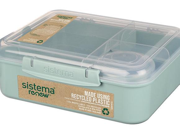 קופסא שקופה בנטו מחולקת 1.65 ליטר עם מיכל תוספות של חברת Sistema
