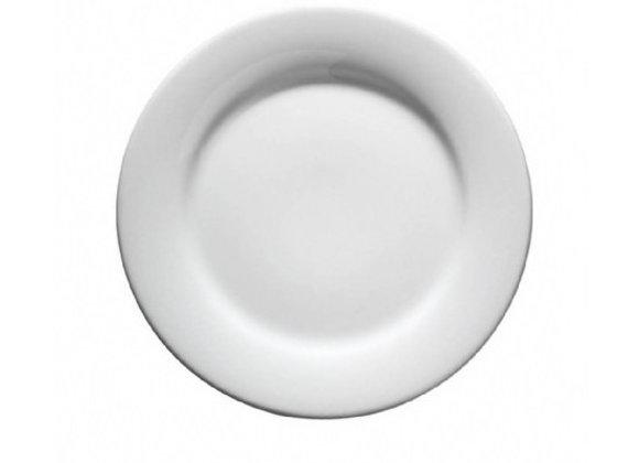 """סט 6  צלחות 27 ס""""מ לבן"""
