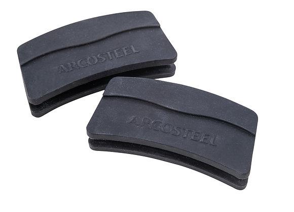 זוג ידיות סיליקון גדולות שחורות 6/24 מבית ARCOSTEEL