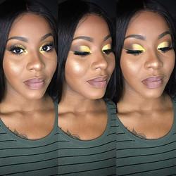 BridesMaid Makeup! 💛💛💛 _pltnmdiva _Bo