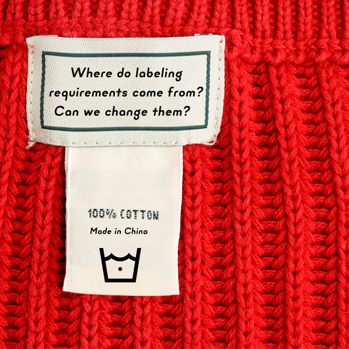 Outdated Clothing Labels and Legislation?
