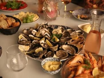 Table d'hôtes. Ce soir la option fruits de mer!