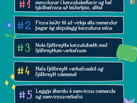 Ég bæti skólastarfið...