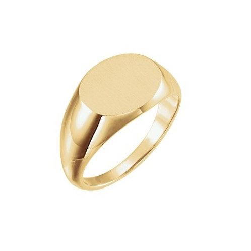 RHODES signet ring- 9k gold