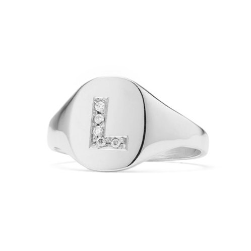 TAYLOR signet ring- Sterling silver