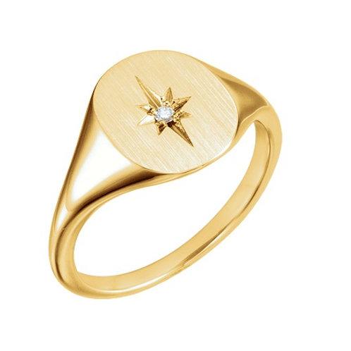 REBECCA signet ring- 9k gold