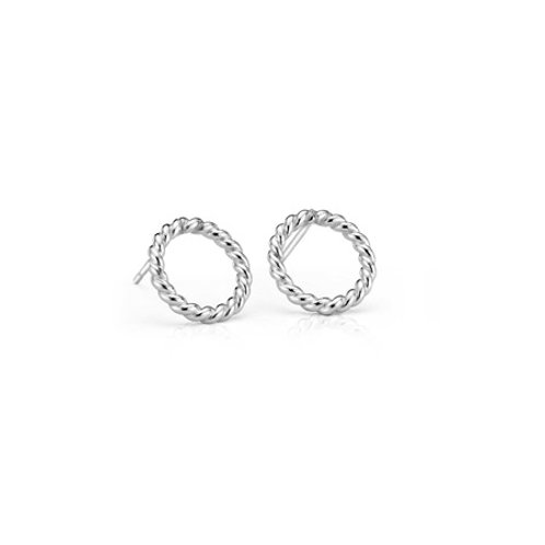 ROPE Circle Studs- Sterling silver