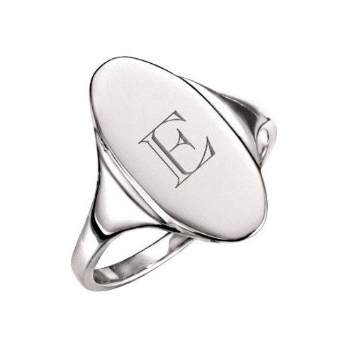 EVA signet ring- Sterling silver