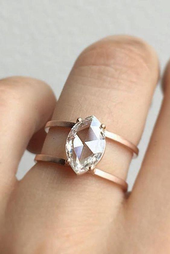 Modern Open Diamond Ring_Pinterest