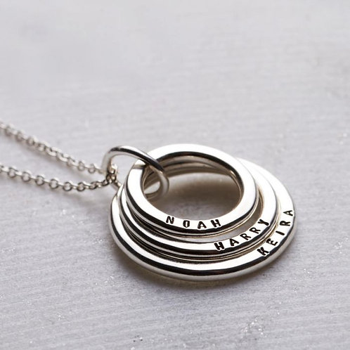 Stacking CIRCLES necklace- Sterling silver