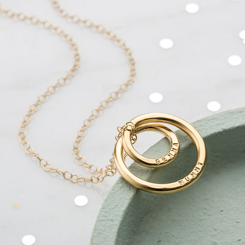 Infinity CIRCLE necklace- 9k gold