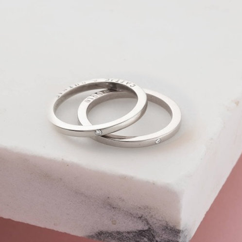 BOX ring-Sterling silver