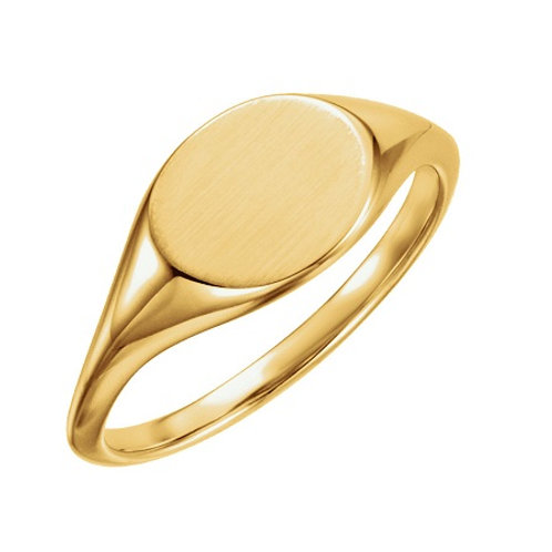 MILA signet ring- 9k gold