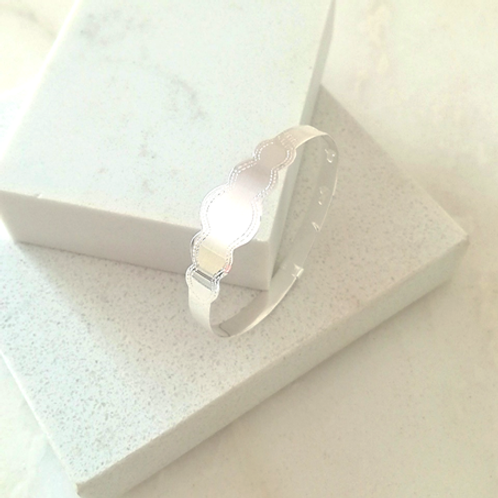 Scalloped Baby Bangle-Sterling silver