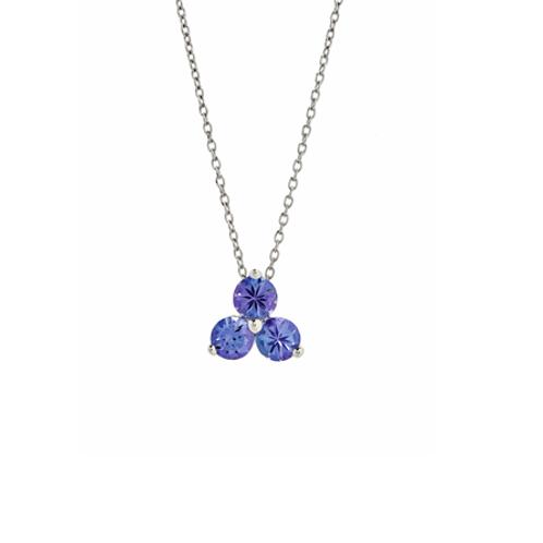 Trilogy necklace- 9k gold & Tanzanite