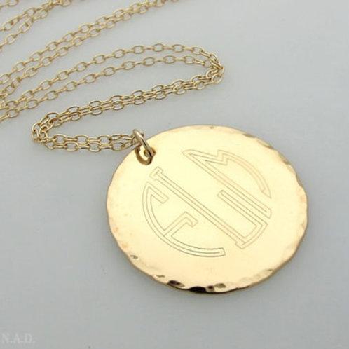 DISK necklace-9k Gold