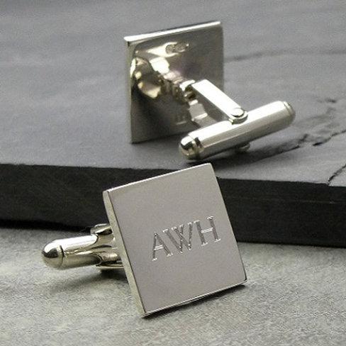 SQUARE cufflink- 9k gold