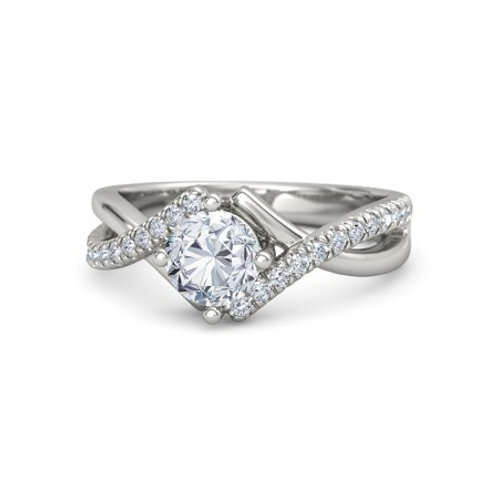 Bianca 9k Gold Diamond Engagement Ring